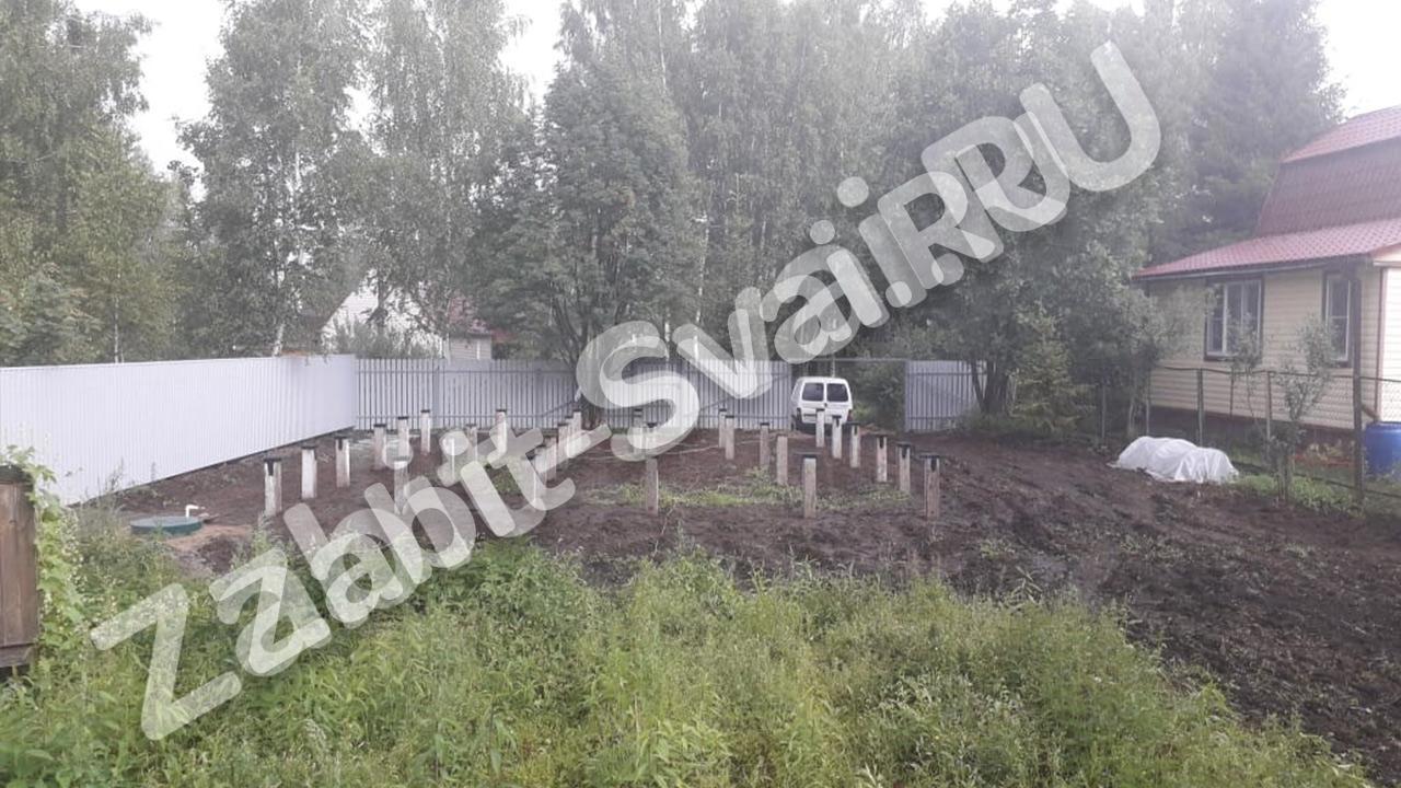 свай на даче Красное Софряково - Забивка свай на даче в д. Софряково