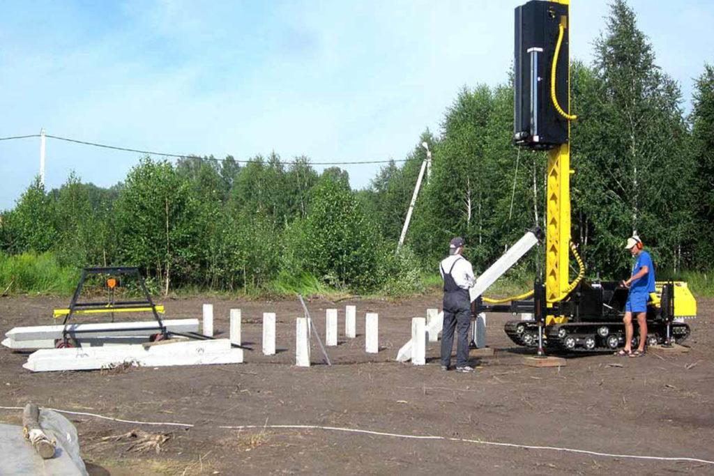 железобетонных свай 1 1024x683 - Строительство фундаментов в Орехово-Зуево