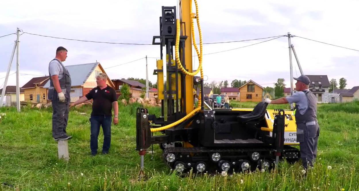 железобетонных свай - Строительство фундамента в Железнодорожном