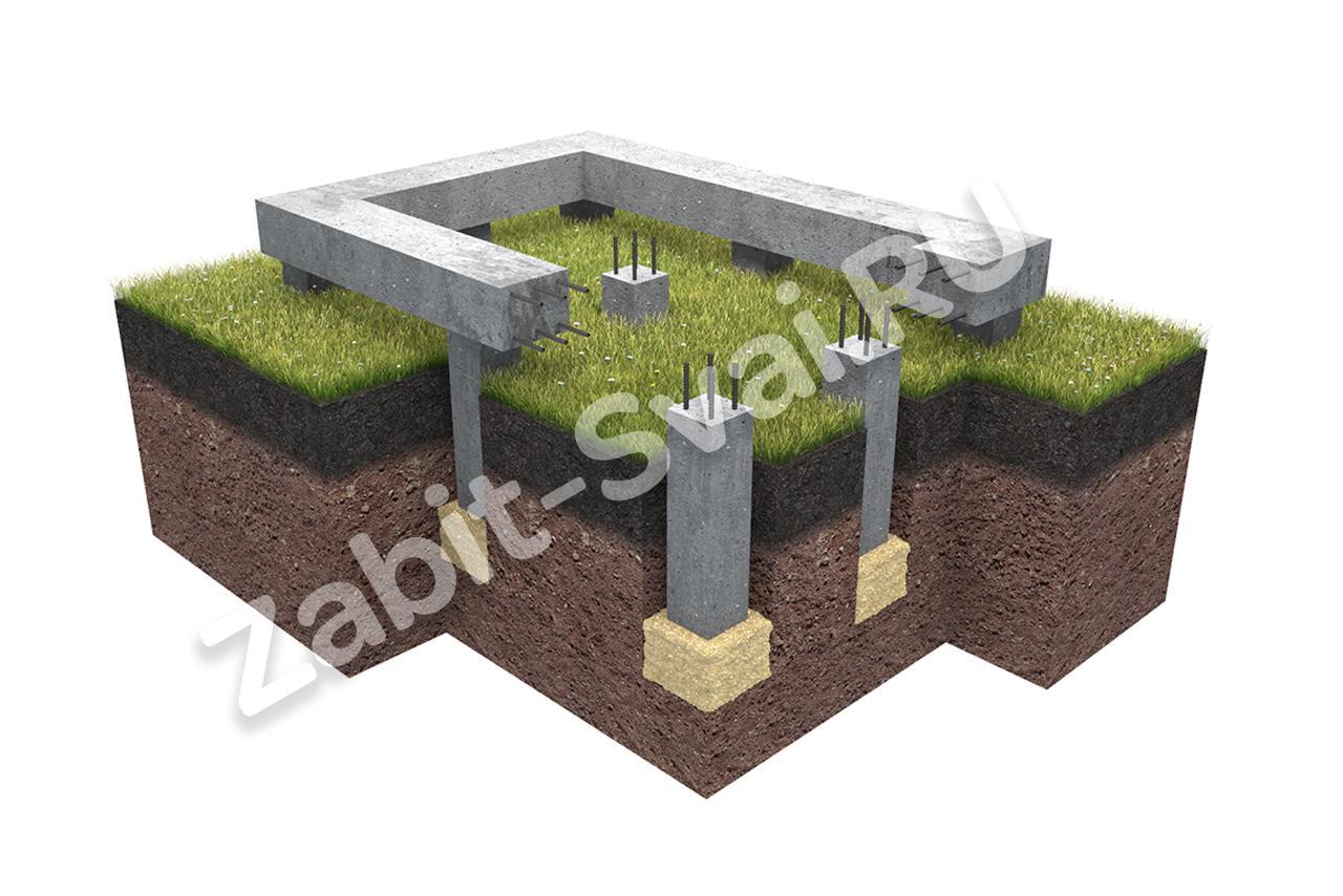 фундамент - Свайный бетонно забивной фундамент