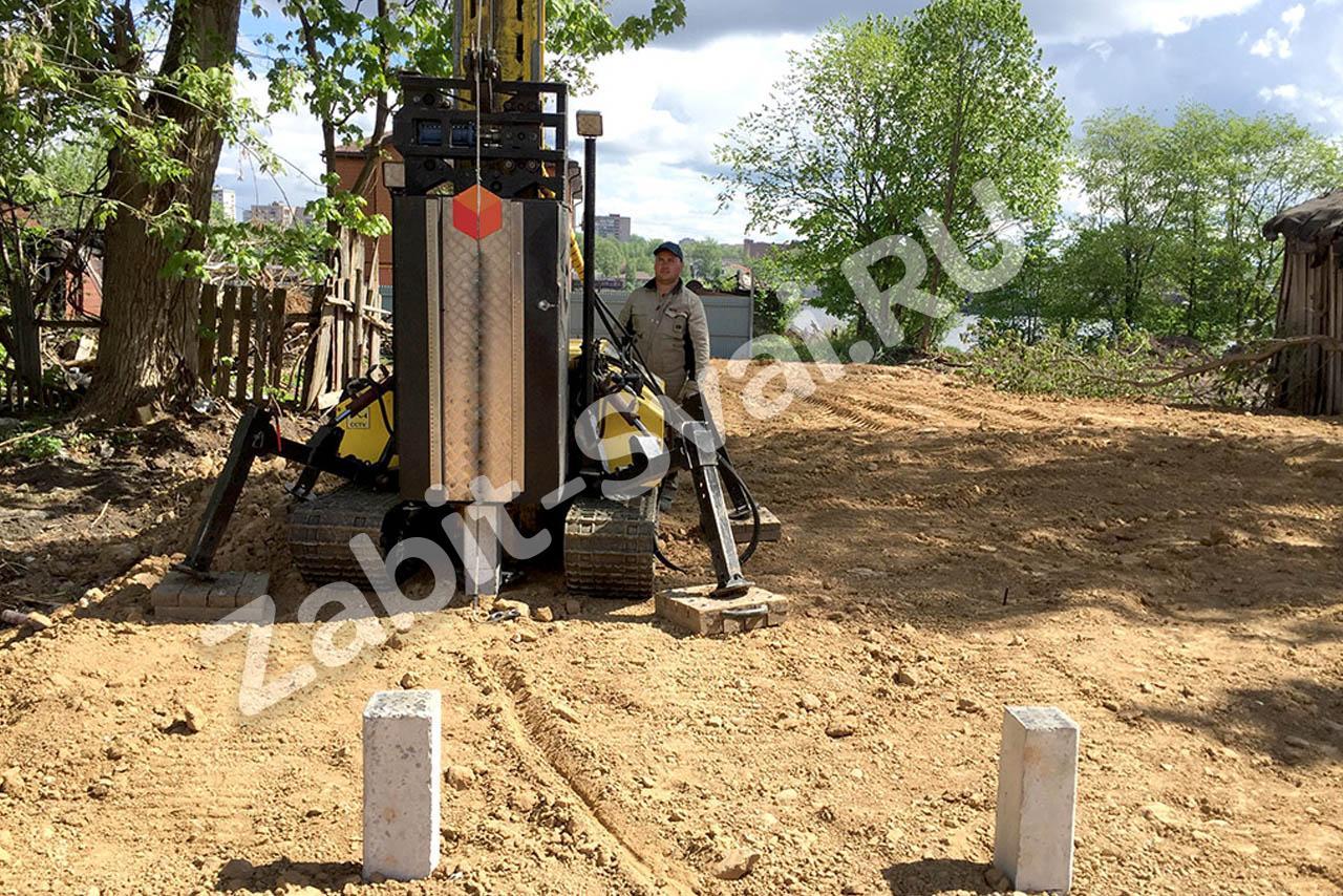 свай миниустановкой для дома - Строительство фундамента в Бронницах