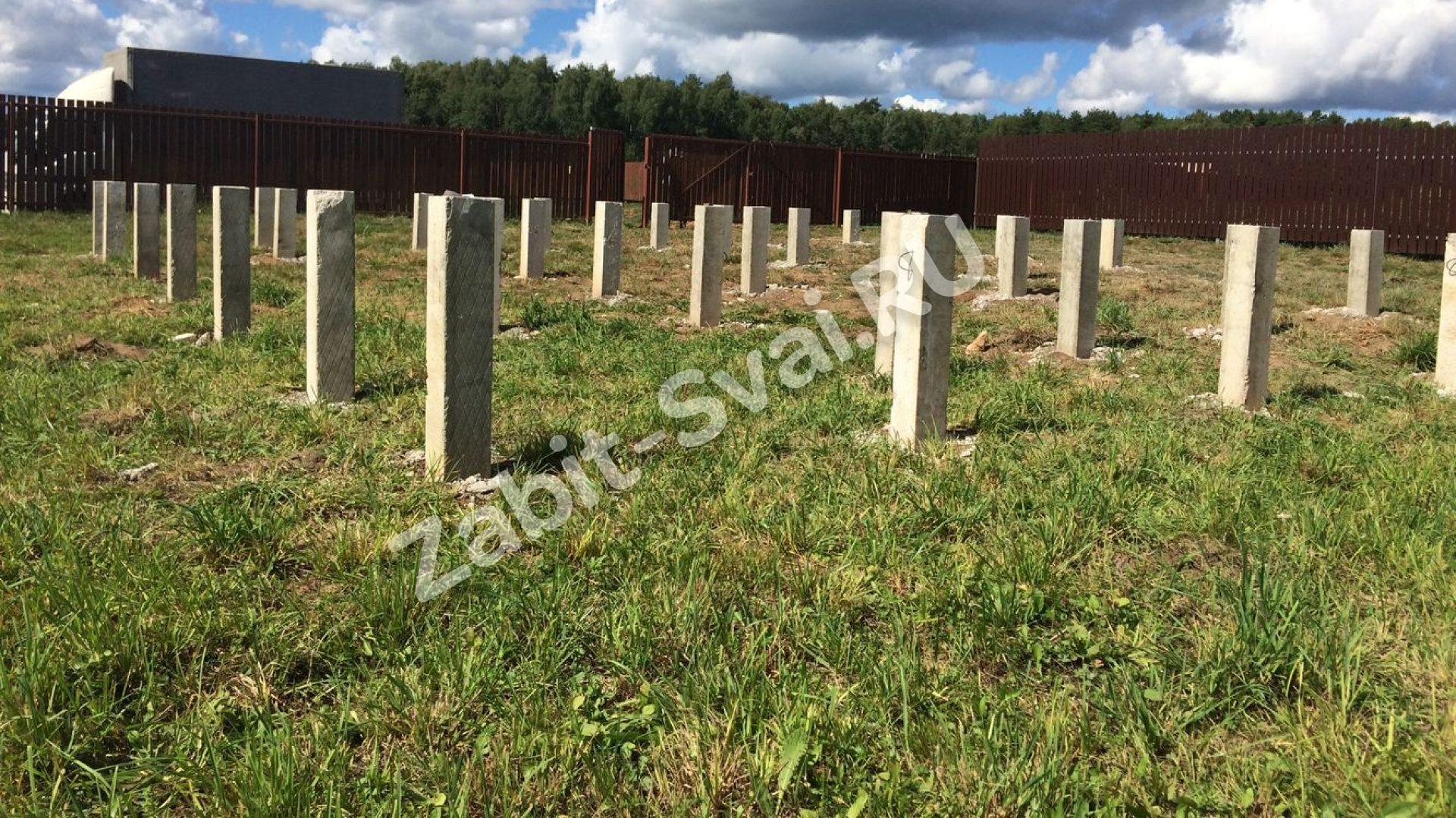 свай - Строительство фундамента в Коломне