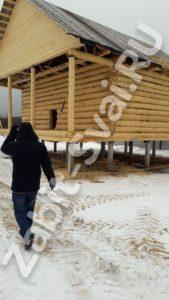 свай зимой в клинском районе 3 169x300 - Забивка свай в Клинском районе