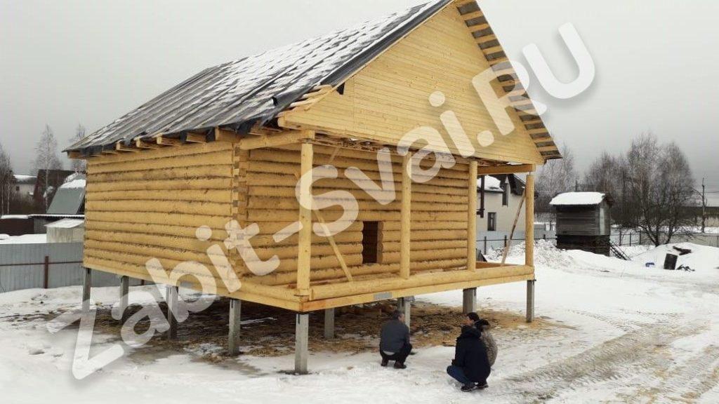 свай зимой в клинском районе 4 1024x576 - Забивка свай в Клинском районе