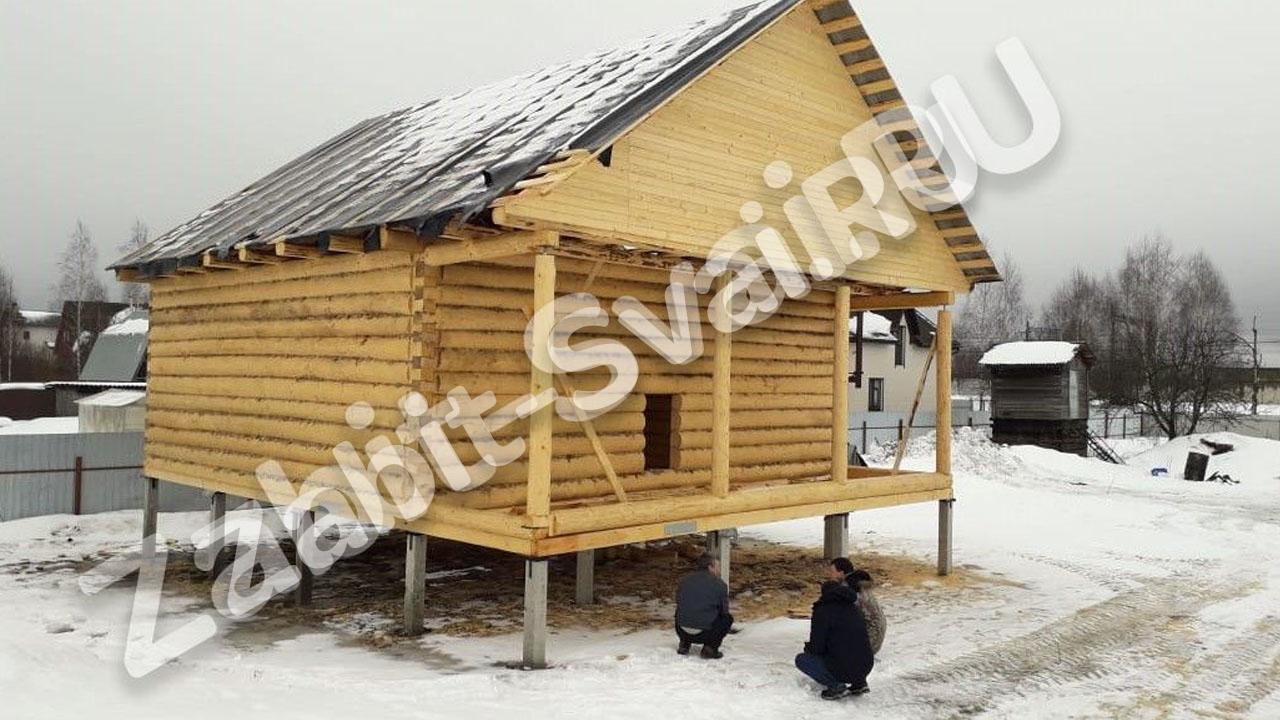 свай зимой в клинском районе 4s - Забивка свай в Клинском районе