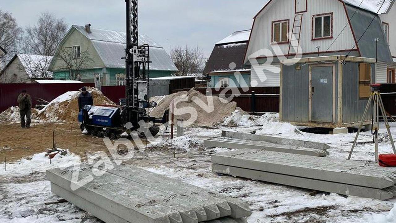свай зимой 2021 года промо - Забивка свай под каркасный дом зимой
