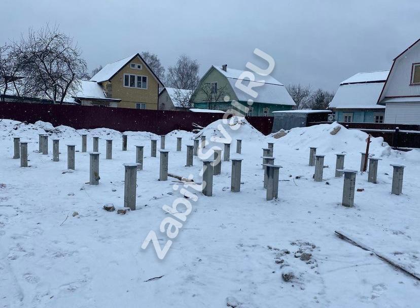 свай зимой 2021 года 4 - Забивка свай под каркасный дом зимой