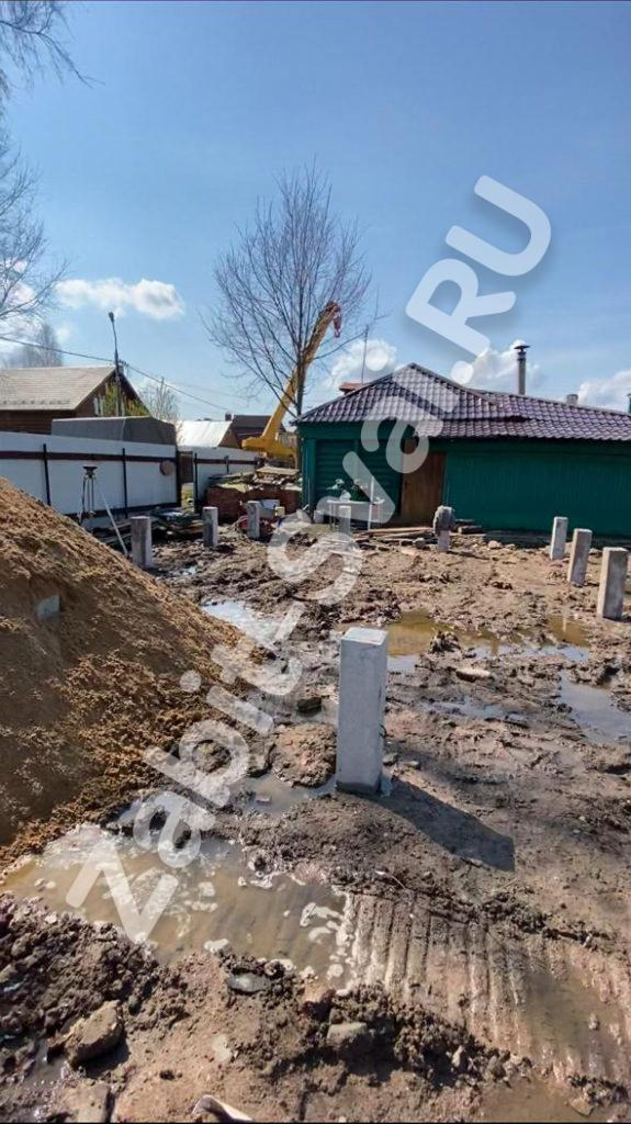 свай под газобетонный дом 5 575x1024 - Забивка свай под 1-эт дом из газоблоков