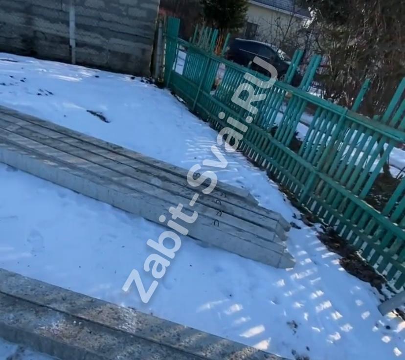 свай под каркасный дом в Орехово Зуево 1 - Забивка свай под каркасный дом в декабре