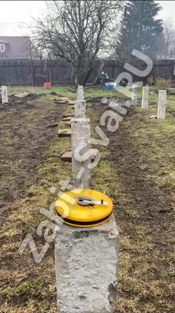 свай под каркасный дом в д. Новый Снопок 6 575x1024 - Забивка свай под каркасный дом